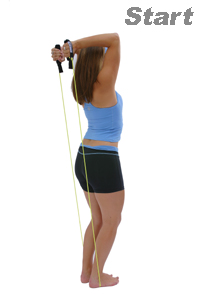 exercise band triceps