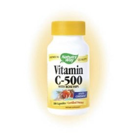Natures Way Vitamin C reduces belly fat.