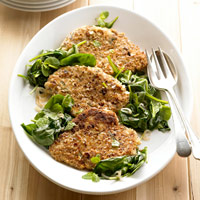 low calorie almond crusted chicken paillard recipe