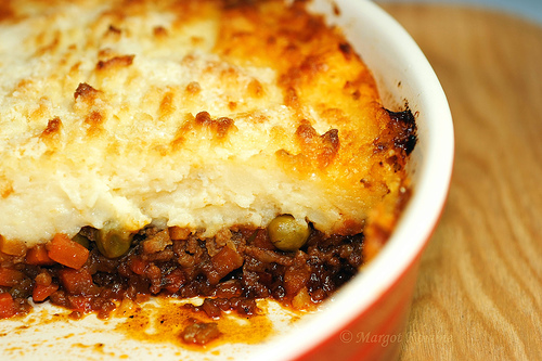 ... this delicious low calorie, high fiber Beef and Vegetable Polenta Pie