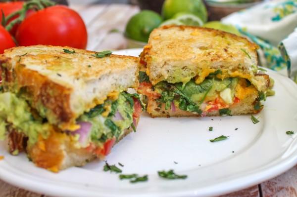 Guacamole Grilled Cheese Sandwich Recipe — Dishmaps