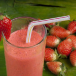 Strawberry & Cucumber Red Tea Slushy